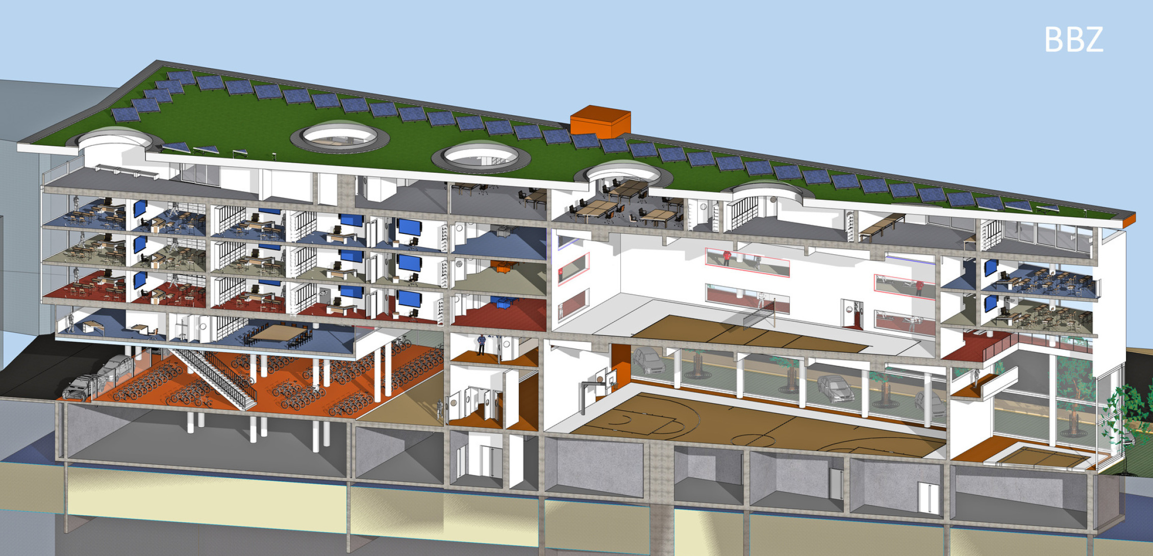 Querschnitt_Vorderseite_BBZ_Architektur_Wettbewerb
