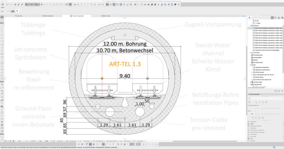 44_ART-TEL_1.3_Schnitt_mit_Vermassung_Konstruktionsskizze_Tunnel
