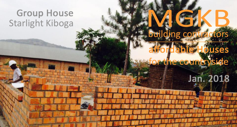 Mason works for Group House in Kiboga