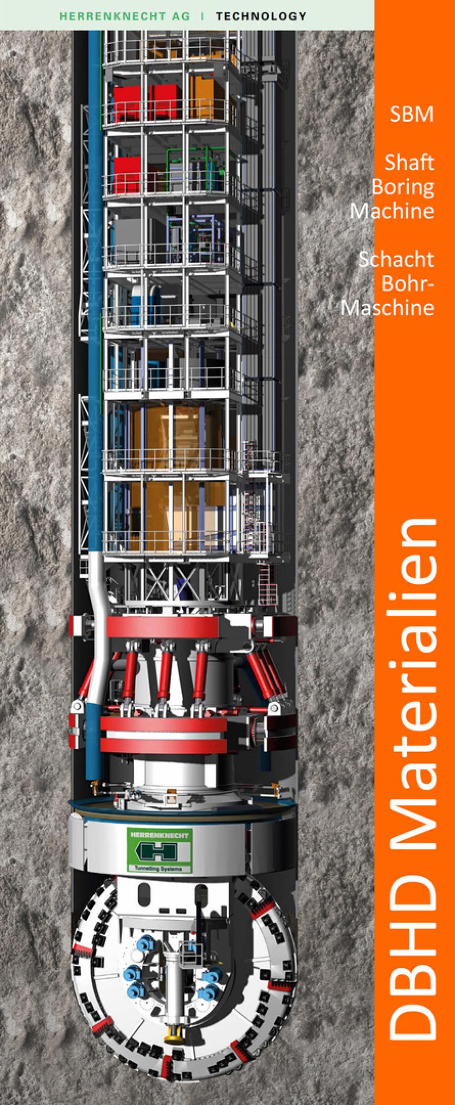 Schacht-Bohr-Maschine für DBHD Endlager Zugangs-Bohrung