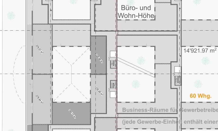 mögliche 60 Stück Gewerbe-Wohnungen im Dachgeschoss des Pharma Business Centers