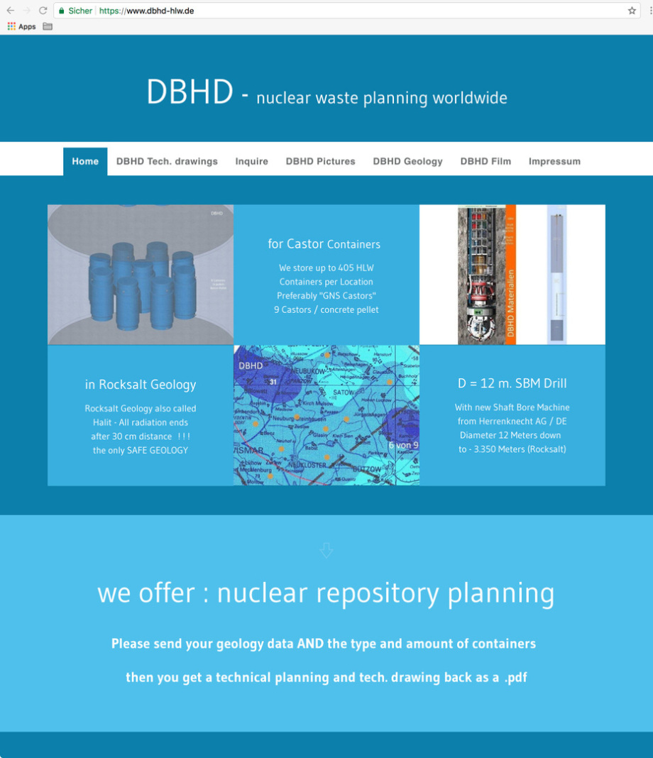 new website for DBHD nuclear repository planning - neue Website für das DBHD Endlager Konzept - BGE GmbH Peine