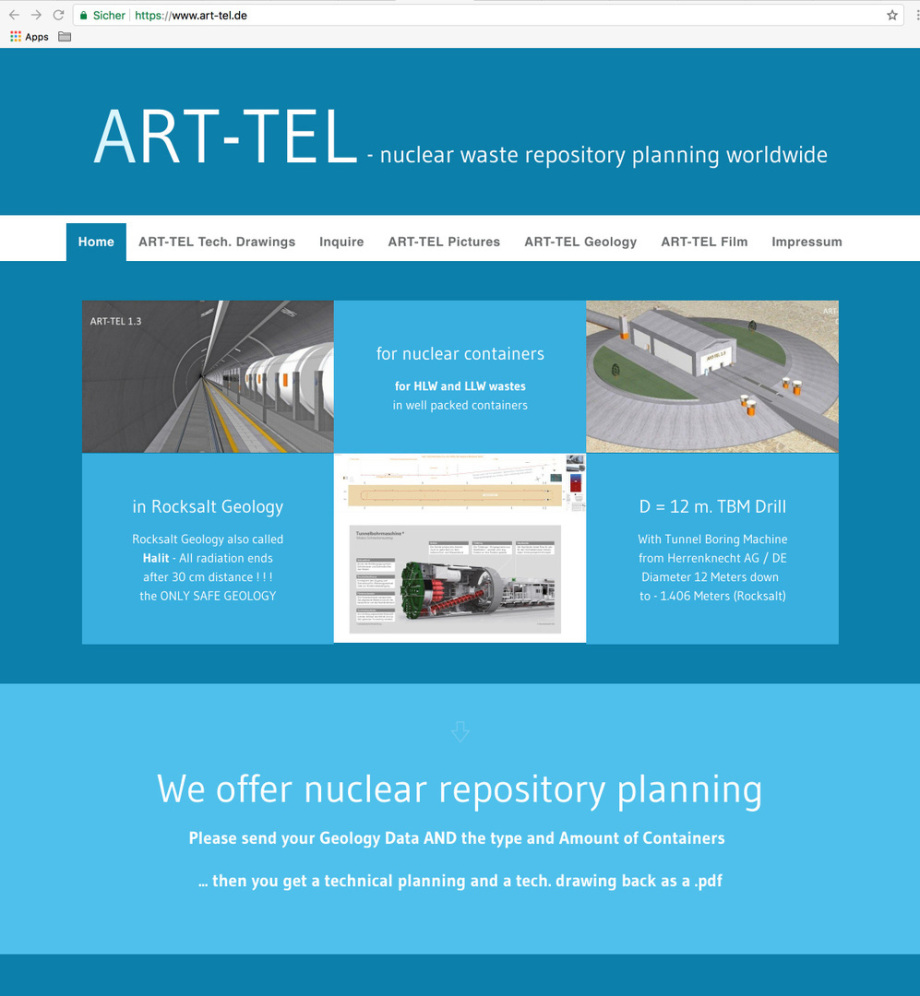 new website for ART-TEL nuclear repository planning - neue Website für das ART-TEL Endlager Konzept BGE GmbH Peine