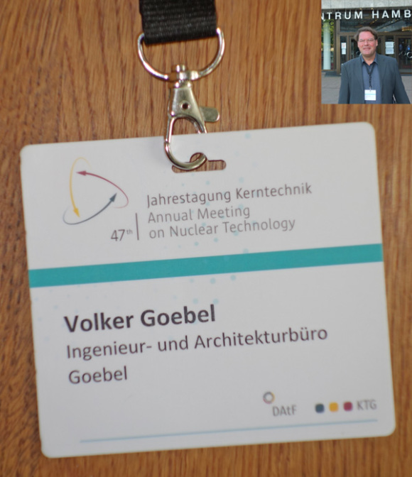 Batch Ing. Volker Goebel Jahrestagung Kernenergie Hamburg - zahlreiche Aussteller und Vorträge - Herrn Flasbarth gesprochen