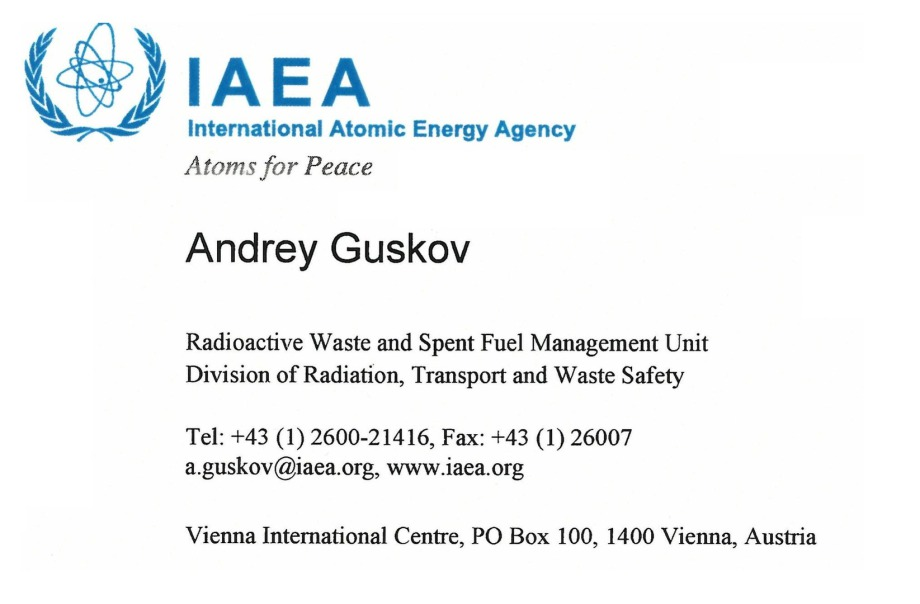 V_Card_Andrey_Guskov_IAEA_Radioactive_Waste_Management_like_DBHD_and_ART-TEL