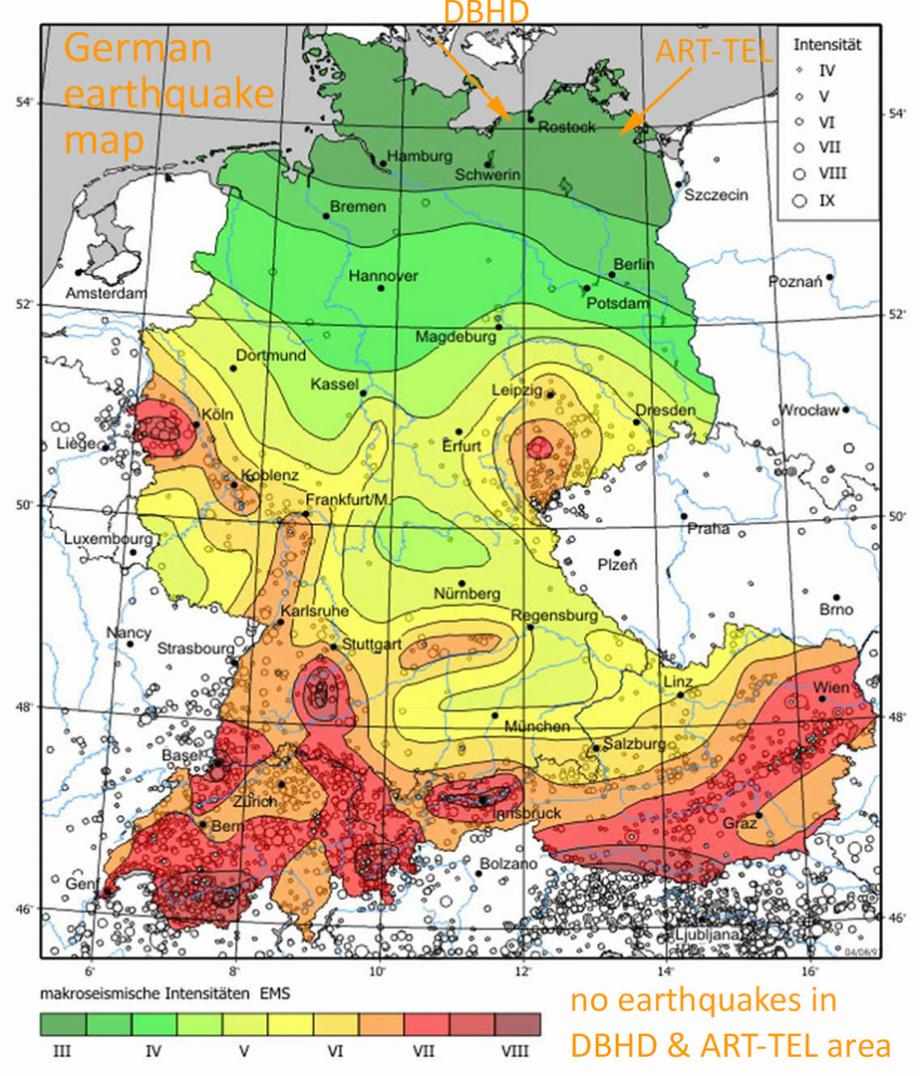 Keine echten seismischen Ereignisse im Baugebiet der Endlager DBHD und ART-TEL in Deutschland - eine Information auch für die BGE GmbH Peine