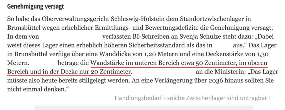 und trotzdem versendet das BFE Berlin diese Broschüre in der behauptet wird alle Zwischenlager seien sicher - Leute - Zwischenlager haben grosse Lüftungslöcher und eine Panzerfaust öffnet einen Castor - das ist eine 30 min Sache
