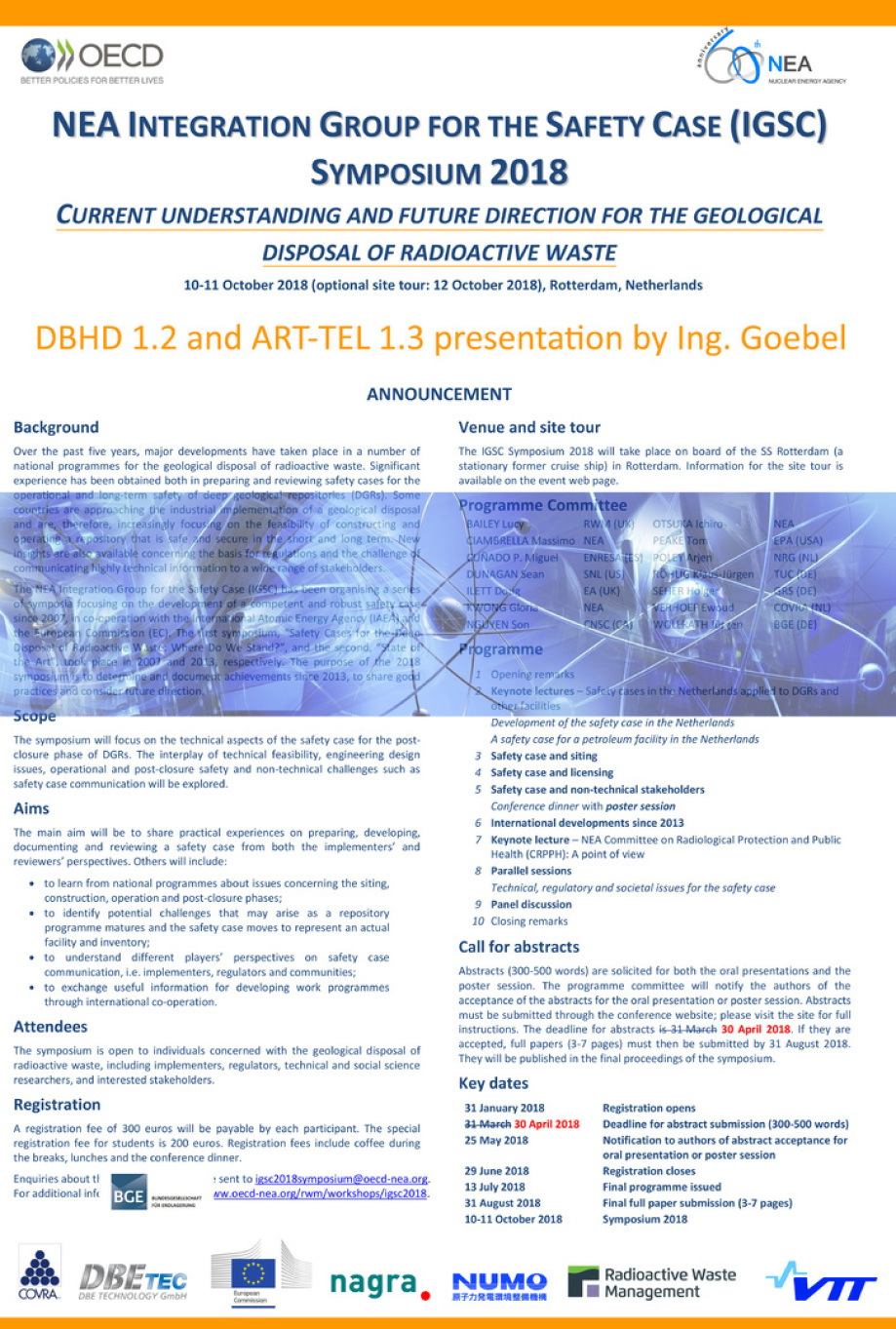 igsc2018_poster_Rotterdamm_meeting_nuclear_waste_repository_planning_building_DBHD_ART-TEL_Ing_Goebel