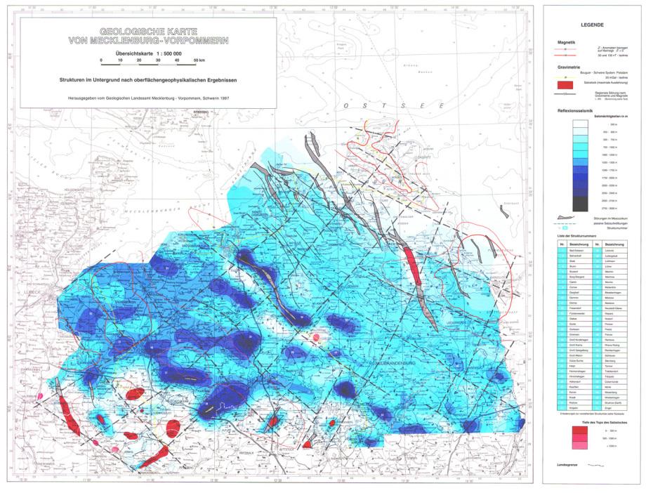 Geologische Karte Zechstein - Perm - Steinsalz M-V - Atommüll Endlager südl_Kröpelin_Glasin_Retschow_Heiligenhagen_Züsow_Madsow_  Neuburg_Steinhausen_Jürgenshagen_Jabelitz_Bernitt_Babst