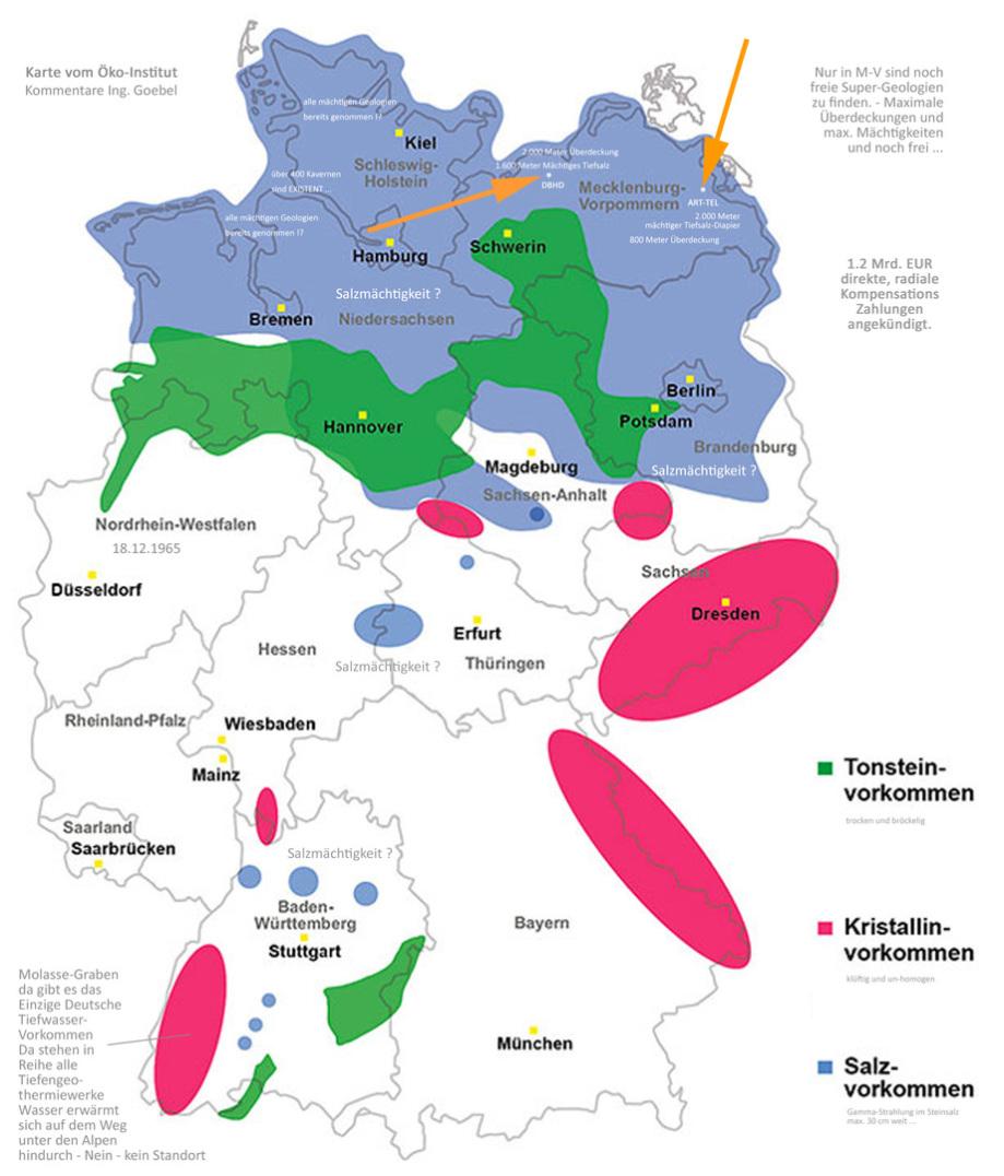 Wirtsgestein Karte Deutschland - Atommüll Endlager südl_Kröpelin_Glasin_Retschow_Heiligenhagen_Züsow_Madsow_  Neuburg_Steinhausen_Jürgenshagen_Jabelitz_Bernitt_Babst