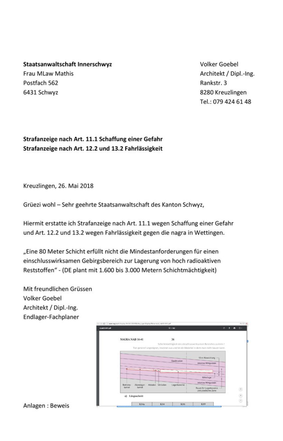 Strafanzeige_02_nagra_Wettingen_Staatsanwaltschaft des Kanton Schwyz Volker Goebel