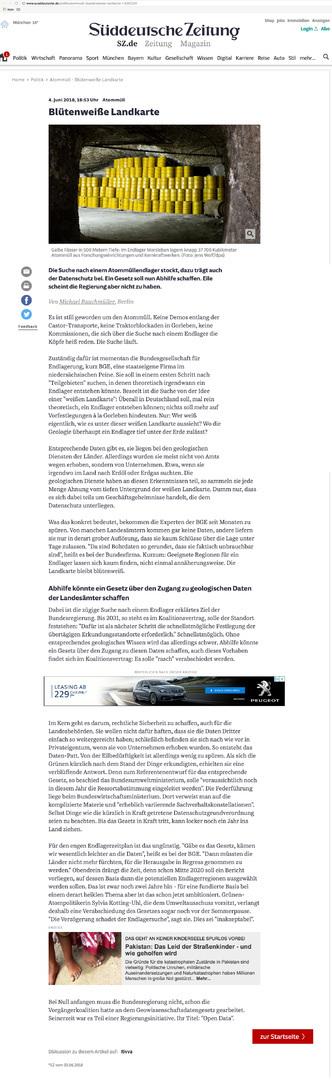 BGE GmbH erhält keine Bohrdaten der Wirtschaft - Endlager Atommüll bei südl_Kröpelin_Glasin_Retschow_Heiligenhagen_Züsow_Madsow_  Neuburg_Steinhausen_Jürgenshagen_Jabelitz_Bernitt_Babst