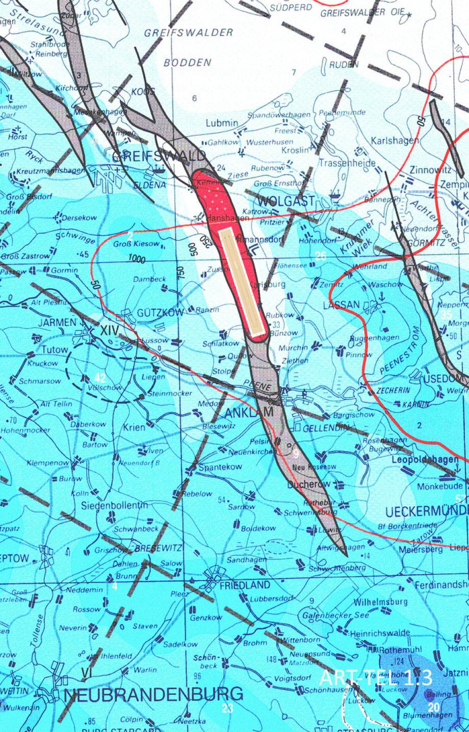 Standort ART-TEL 1.3 Abklinglager direkt bei Karlsburg - in der Nähe von Wolgast und Greifswald - Super-Geologie