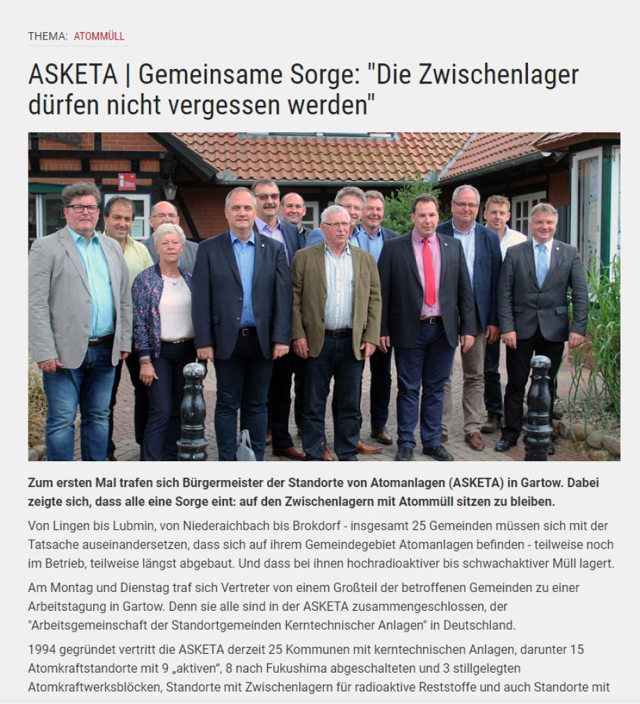 Treffen der Asketa Bürgermeister Juli 2018