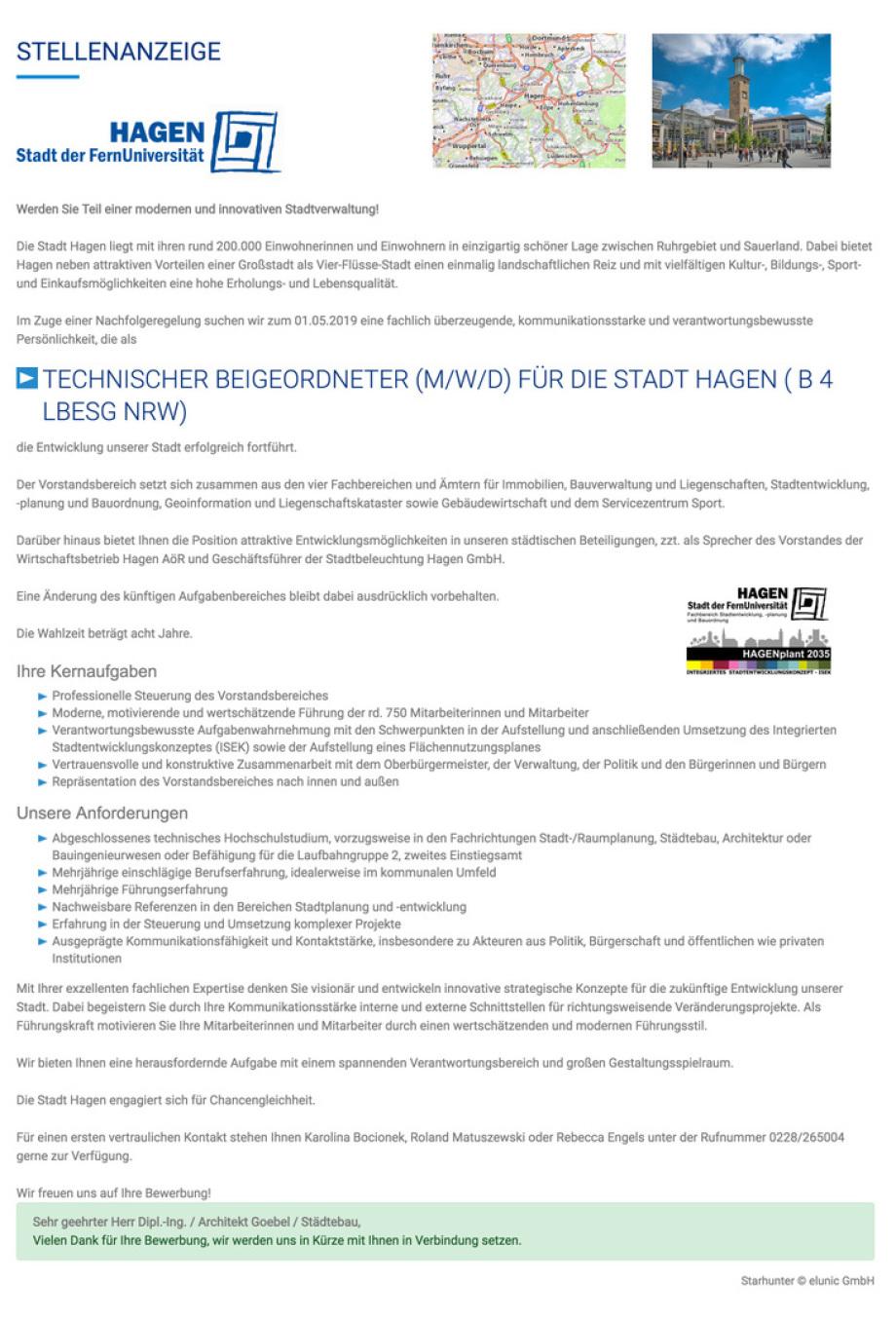 Stellenangebot_Hagen_NRW_DE_techn_Beigeordneter_Baudezernent_Stadtbaurat