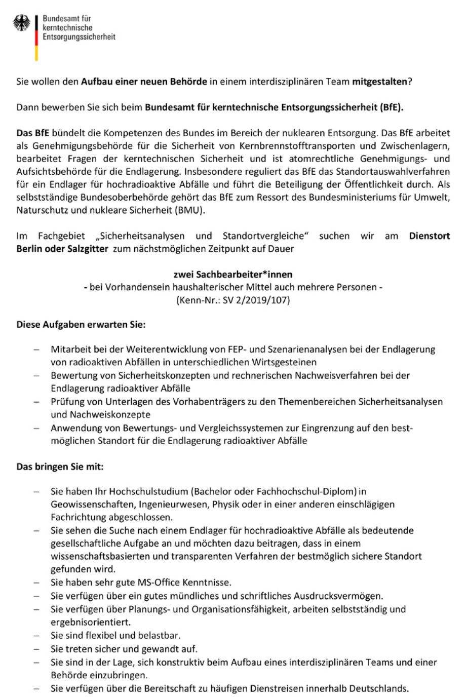 Seite_1_Stellenangebot_2_Mitarbeiter_fuer_Sicherheitsanalysen-und-Standortvergleiche_2019-107-sb-sv2-1