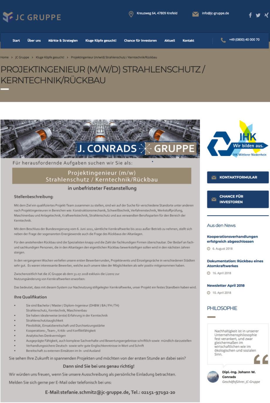 Stellenangebot_Projekt-Ingenieur-Rueckbau_Kerntechnik