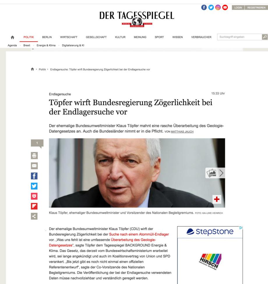 Töpfer_fordert_Geologiedatengesetz_Geodatengesetz_Endlagerung_Transparenz_im_Gesetz_DE_und_EU