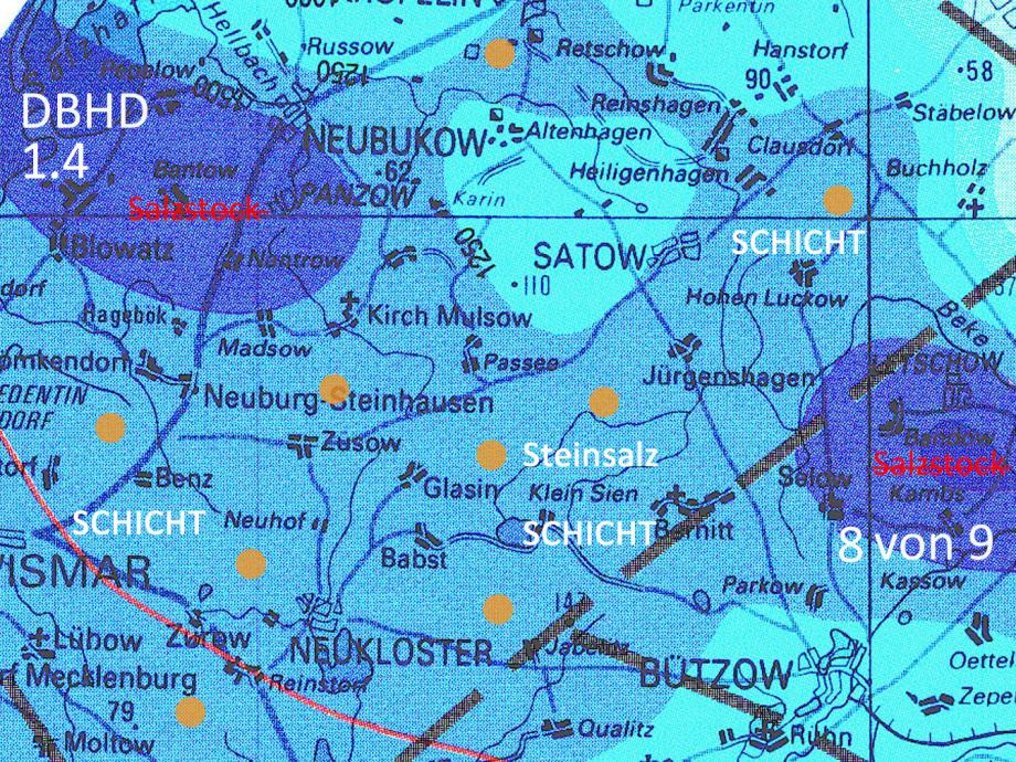 DBHD braucht 8 Standorte innerhalb der Steinsalz Schicht