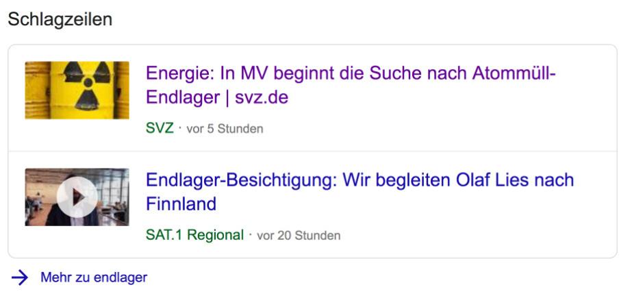 Endlager in Mecklenburg-Vorpommern - es ist die gute Geologie
