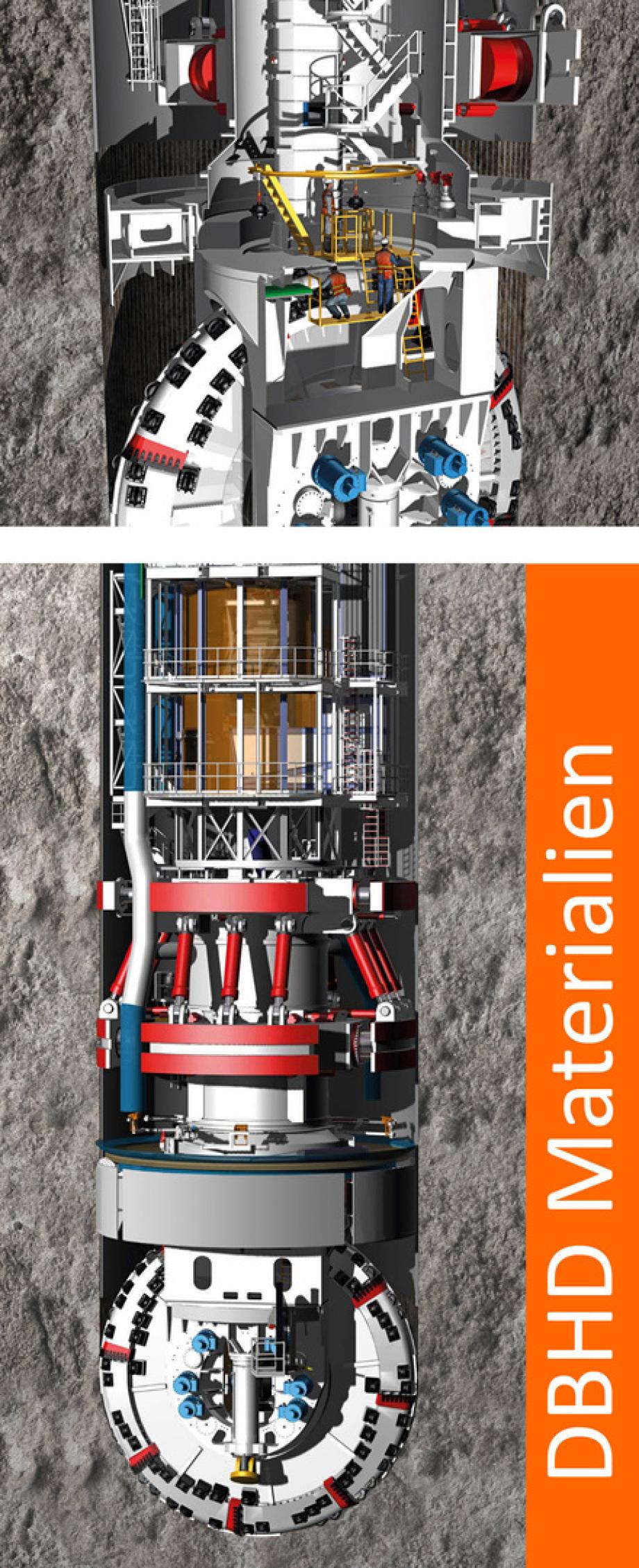 Schachtbohrmaschine SBM für DBHD Endlager - Durchmesser 12 Meter