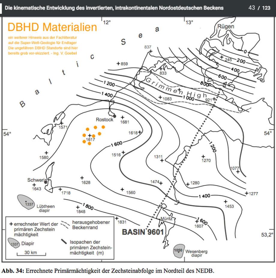DBHD Endlager Standort in Deutschland in einer 1.600 Meter mächtigen Steinsalz-SCHICHT unter massiven mächtigen Sedimentschichten - Standort DBHD 1.4 DE/CH