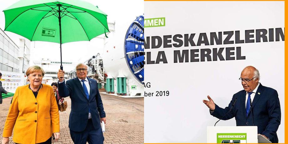 Kanzlerin Merkel und Ingenieur Herrenknecht - 07.10.2019 - Wenn das Land ruft muss man sich bewegen ...