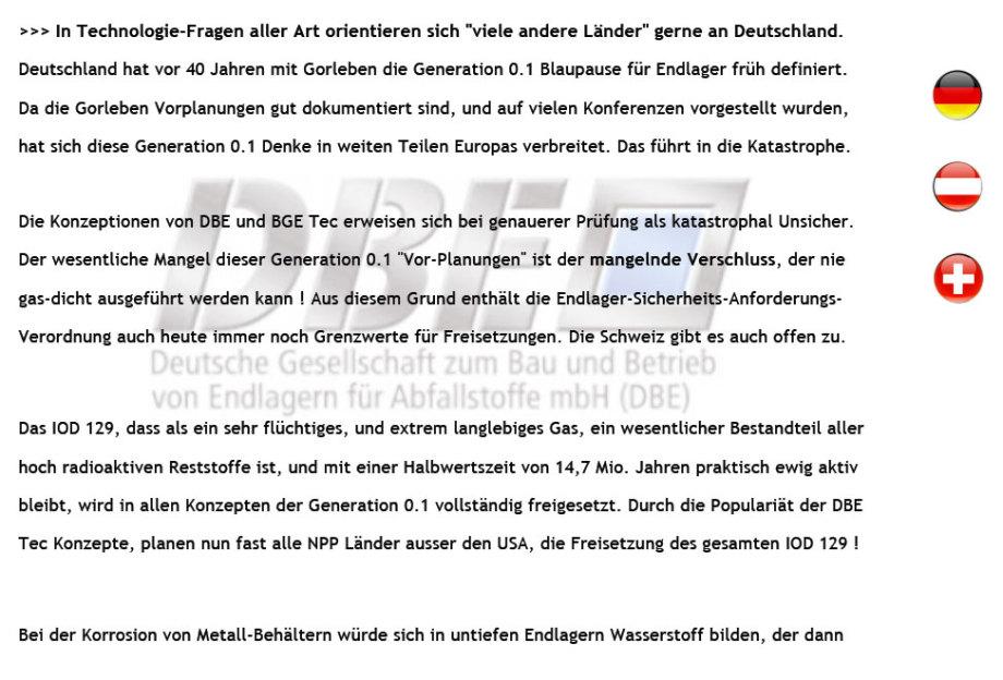 Vorschau 1 Seite - 59_unsichere_DBE-BGE Konzepte_gefaehrden_Europa_und_die_Welt-ACHTUNG-GEFAHR_DE_Version