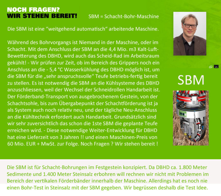>>> SBM is going to be connected to DBHD cooling systems - new price now 60 Mio. EUR + VAT - new delivery time 3 years after 50 % deposit #SBMM #DBHD #Herrenknecht #GDF #DEAL #DeepBigHoleDisposal #X.XX