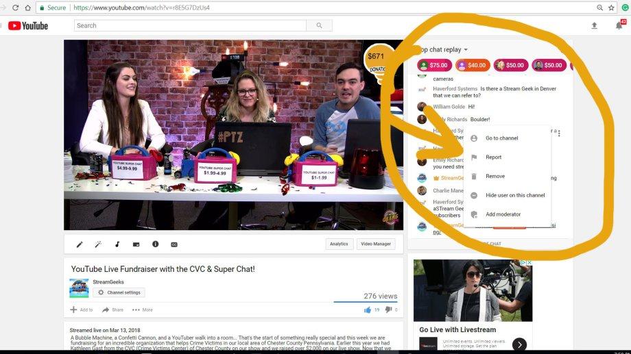 YouTube-Live-Chat-mit-Moderation-Fragen-stellen-die werden vom Online Moderator auf der Bühne vorgelesen und von den Gästen beantwortet