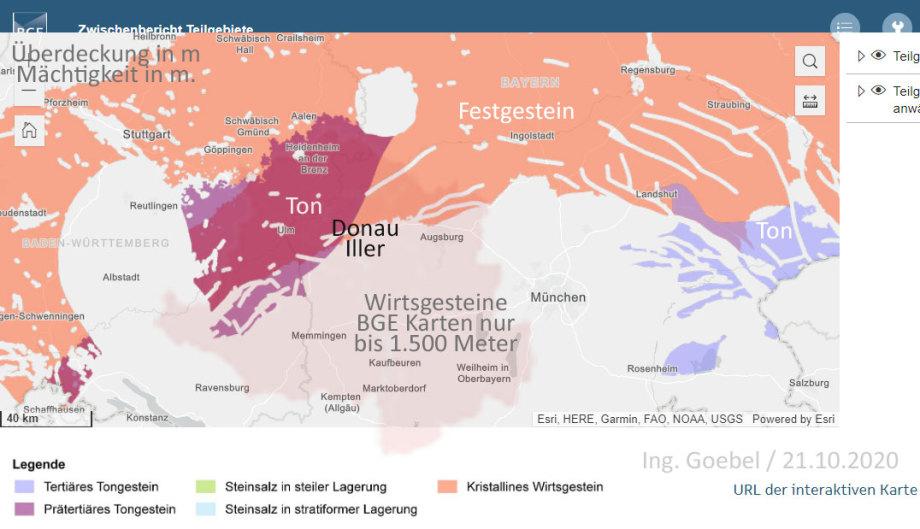 Süd Deutschland in den BGE Karten Teilgebiete Endlager - so ein Quatsch