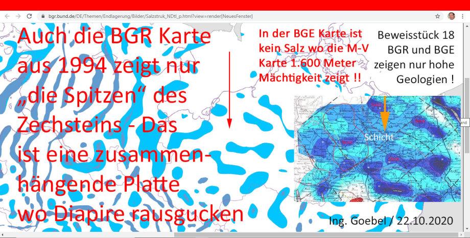 Die BGR hat in Gorleben-Zeiten damit angefangen tiefe Geologien zu ignorieren - das setzt sich bis heute fort - wir fordern eine tiefere Schnitt-Ebene bis - 3.000 Meter - das wird ein völlig anderes Bild ergeben.