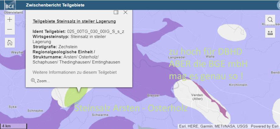 BGE Teilgebiet Steinsalz-Struktur Arsten Osterholz