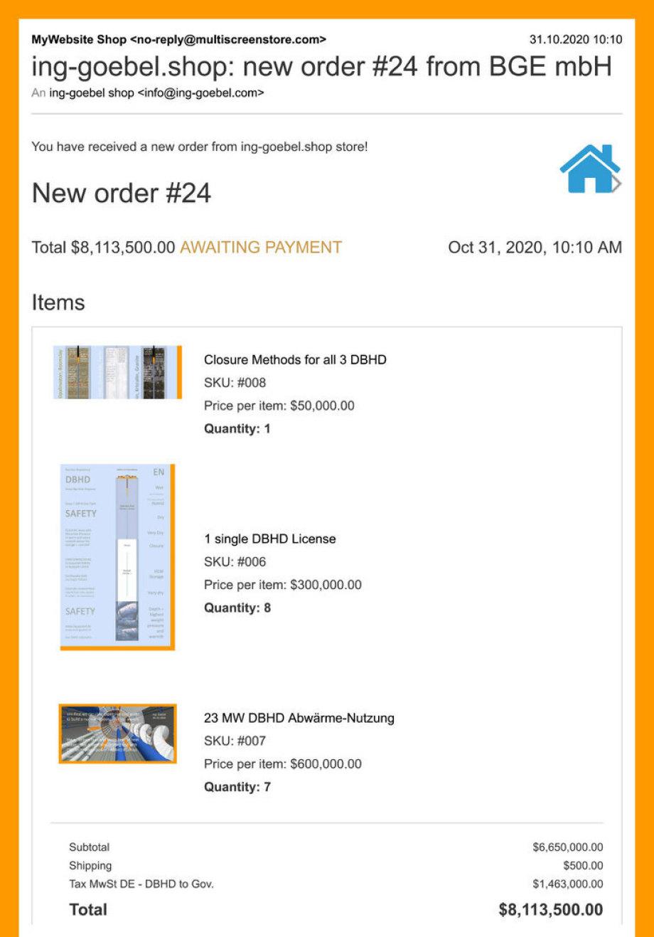 >>> 1a Kauf-Empfehlung von Ing. Goebel an die BGE mbH - DBHD Lizenzen für Deutschland