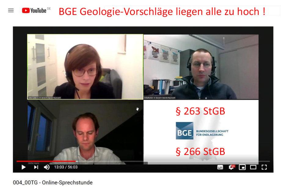 >>> Die BGE Geologie-Vorschläge liegen alle zu hoch !!! § 263 und § 266 StGB nachlesen bitte - #BGE #Problem