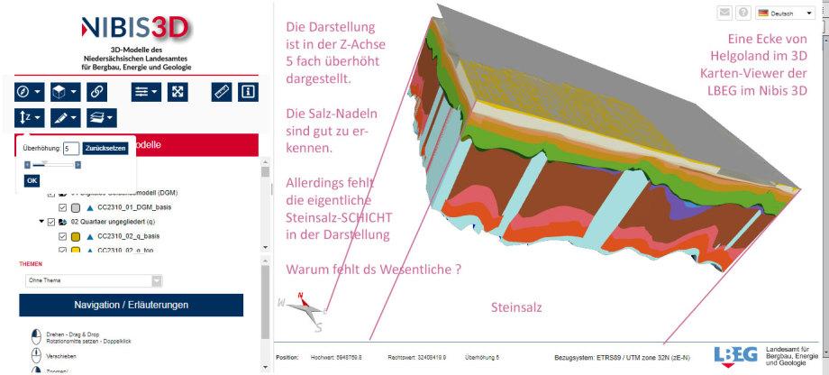 D Modell Ausschnitt von Helgoland - Salz-Spiztzen - aber die Salz-Basis-Platte fehlt - 1-2 km dickes Salz unterschlagen !