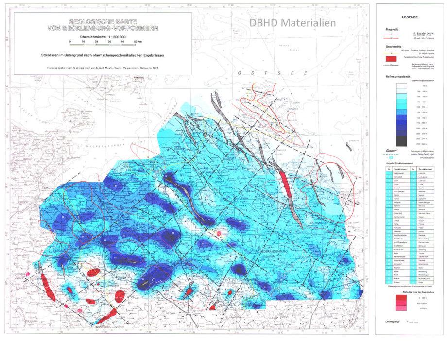 Die Steinsalz-Karte von M-V war richtig aufgebaut - ca. 1990 - jetzt arbeitet man an einem 3D Modell für M-V Zechstein/Steinsalz