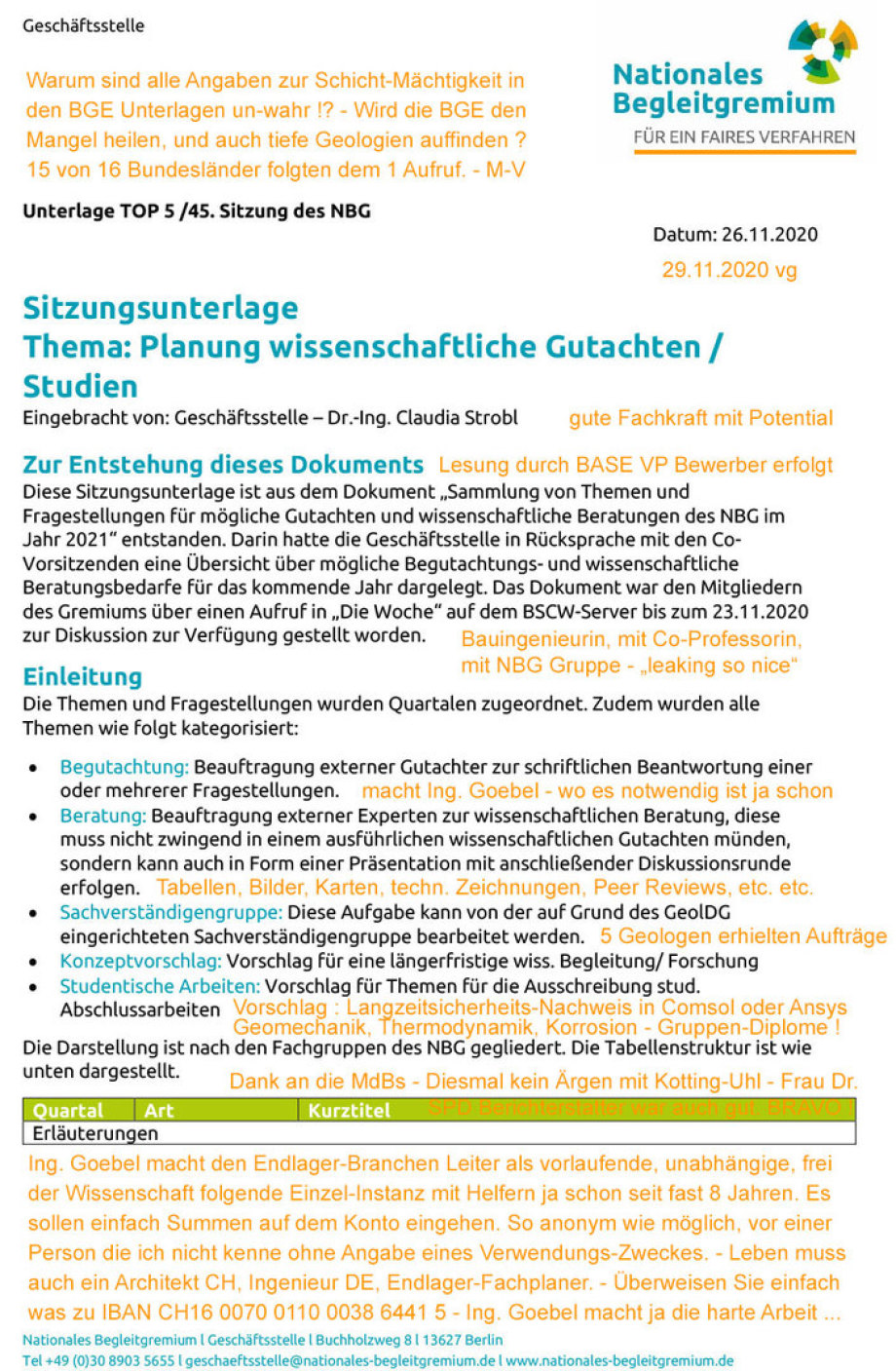 NBG Endlager Themen-Planung 2021 - Kommentar Ing. Goebel 3