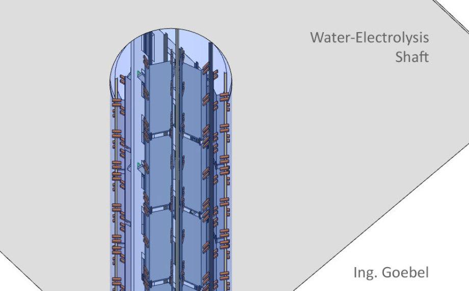 Das ist jetzt erst einmal der Elektrolyse-Schacht - aus IFC Daten - und in ArchiCAD International (englisch)