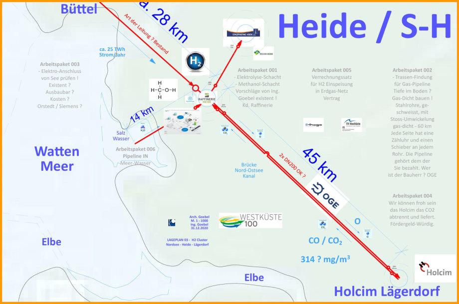 >>> Anschluss-Salz-Wasser-IN-für-Elektrolyse---H2-Cluster-Heide - #Westküste100 #H2Cluster #Heide #Elektrolyse #Wasseranschluss
