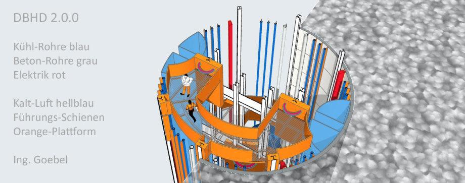 >>> Aufzugs-Podest 1 von 4 und Rohre im DBHD Zugangs-Schacht >>> Elevator-Plattform 1 from 4 within DBHD Entrance Shaft - #DBHD #Entrance #Shaft #Nuclear #Repository