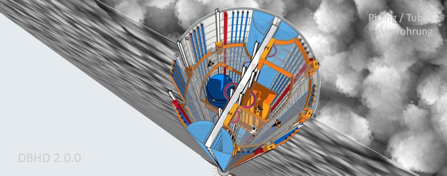 >>> Piping - Tubes - Rohre der DBHD Baustelle - #Site #Baustelle #DBHD #Wassergekühlt #Luftgekühlt #Beton #Giessen #Elektrizität #Starkstrom #Aufzüge