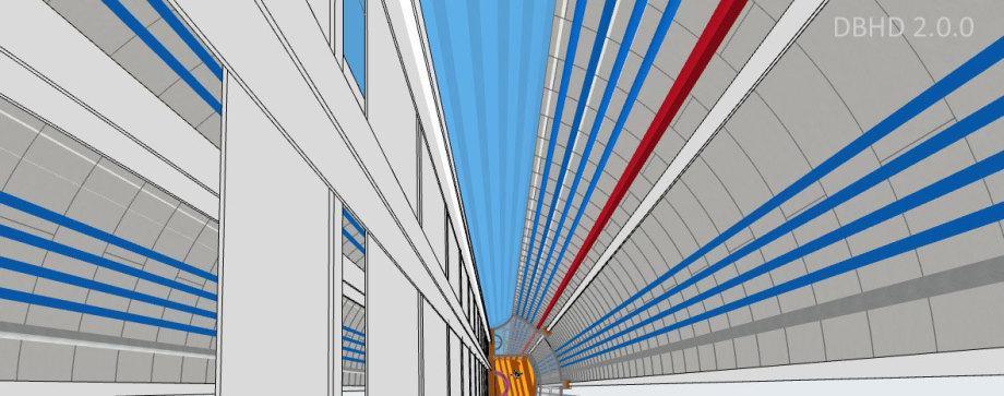 >>> Ordnung - Sauberkeit - Helle Oberflächen - Beleuchtung - Sicheres Arbeiten - Wasserdichter Schachtbau erfordert Hinterwand-Füllung - #DBHD #Präzision #Schacht #Staatsbauwerk #Qualität