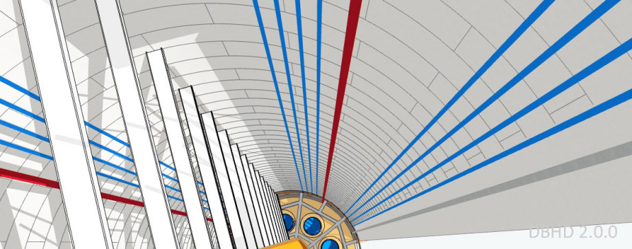 >>> Flansche, Seile, U-Rohre, Schräg-Rohre, Anschlüsse oben fehlen noch - Das ist eine Entwurfs-Planung die in den Händen der Stahlbau-Unternehmen wächst - #DBHD #Stahlbau #Anfrage #Zeichnungen #Zugangs #Bauwerk #Endlager