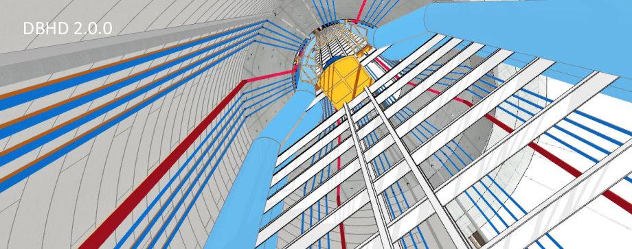 >>> Rohre an der Durchmesser-Übergangs-Stelle zwischen Zugangs-Schacht und Einlagerungs-Schacht - D12 Konus D20 - Die Kalt-Luft-Rohre ! - #DBHD #BohrungsAusbau #Geometrie #Endlager #Baustelle