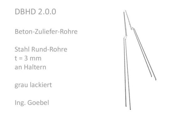 Beton-Zuliefer-Rohre aus Stahl 3 bis 8 mm - unklar