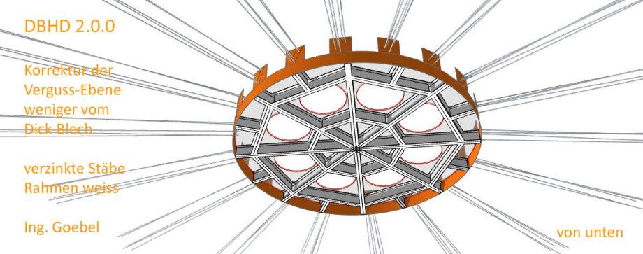 >>> Korrektur Verguss Ebene - weniger Dick-Blech spart Gewicht - Stäbe jetzt nur noch verzinkt - Dafür den Rahmen in weiss - Correction of the deep work level - less thick sheet metal saves weight - rods now only galvanized - the frame in white - #DBHD #K