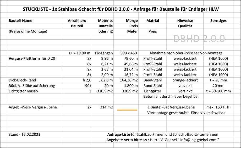 >>> Bild_Stückliste_DBHD_2.0.0_Stahl_Anfrage_Verguss_Ebene_DBHD_2.0.0 - Ing_Goebel - Image to parts list DBHD 2.0.0 Steel request for casting level platform DBHD 2.0.0 Ing Goebel - #DBHD #Anfrage #Inquiry #Steelwork