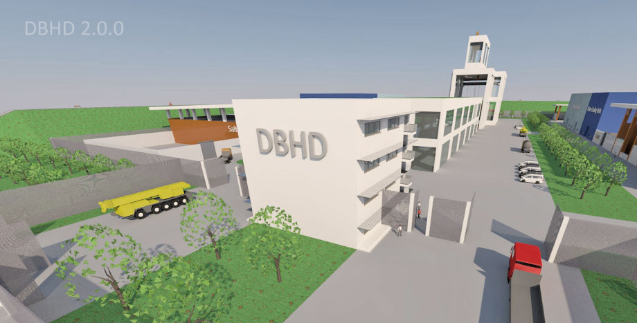 >>> Office-Power-Building DBHD 2.0.0 front side - it is a simple cube with all windows and balconies needed to ensure the surveillance of the incoming and outgoing traffics - #DBHD #Office #Power #Building #Frontside