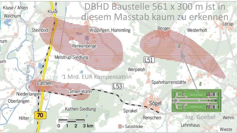 ">>> There is 3 rocksalt location in ""Emsland"" Germany - but you cant see DBHD in this map - building site only 563 x 300 Meters. DBHD in der NOZ Karte kaum noch sichtbar - #DBHD #Börger #Emsland #Endlager - ist klein im Vergleich"